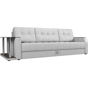 Диван-еврокнижка АртМебель Атлант эко-кожа белый стол с левой стороны диван еврокнижка артмебель атлант эко кожа белый стол с левой стороны