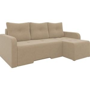 Угловой диван АртМебель Манхеттен микровельвет коричневый правый диван угловой артмебель атланта микровельвет коричневый правый