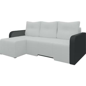 Угловой диван АртМебель Манхеттен эко-кожа бело/черный левый бело черный кардиган