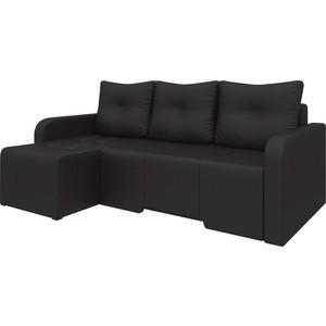 Угловой диван АртМебель Манхеттен эко-кожа коричневый левый угловой диван артмебель андора ткань левый