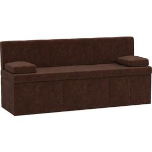 Кухонный диван АртМебель Лео микровельвет коричневый диван книжка артмебель анна микровельвет коричневый