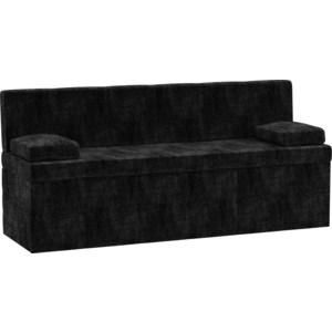 Фотография товара кухонный диван АртМебель Лео микровельвет черный (793368)