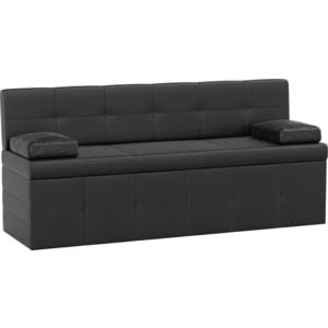 Кухонный диван АртМебель Лео эко-кожа черный кухонный диван артмебель лина эко кожа черный