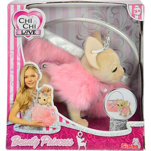 Мягкая игрушка Chi Chi Love Собачка Принцесса с розовой пушистой сумкой (5890618) плюшевая собачка chi chi love рок звезда с сумкой 20 см