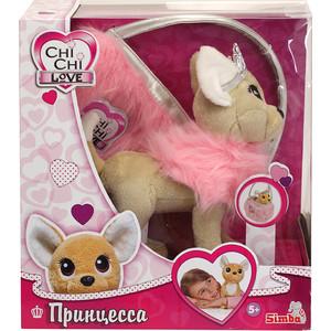 Мягкая игрушка Chi Chi Love Собачка Принцесса с пушистой сумкой (5893126) плюшевая собачка chi chi love рок звезда с сумкой 20 см