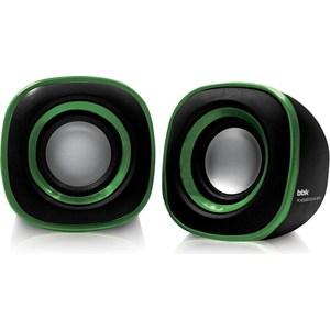Компьютерные колонки BBK CA-301S черный/зеленый колонки bbk sp 09 2 0 черный 3вт
