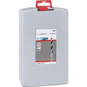 бор сверл по металлу Bosch 1.0-13мм 25шт HSS PointTeQ ProBox (2.608.577.352)