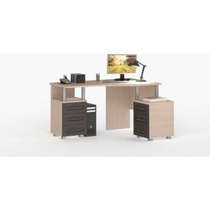 Стол угловой ВасКо СОЛО 005-3101 молочный дуб/венге/венге надстройка васко соло 007 1303 для столов соло 005 соло 021