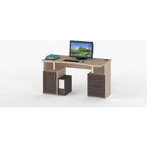 Стол компьютерный ВасКо СОЛО 021-3101 молочный дуб/венге/венге стол компьютерный васко соло 021 3104