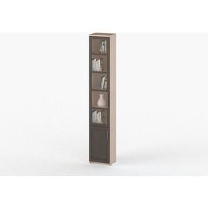 Шкаф книжный ВасКо СОЛО 038-3301 молочный дуб/венге/венге