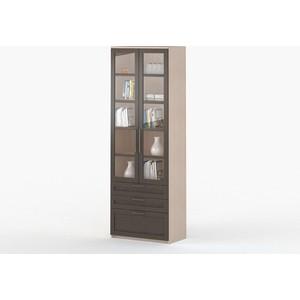 Шкаф 2-дверный с ящиками ВасКо СОЛО 054-3301 молочный дуб/венге/венге надстройка васко соло 013 3301 к столу соло 021