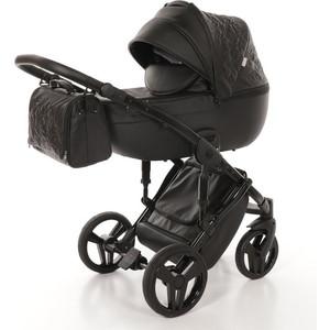 Детская коляска 2 в 1 Junama ENZO JME-04 (чёрная кожа/чёрая рама) детская коляска 2 в 1 junama diamond jd 04 бежевый черный короб