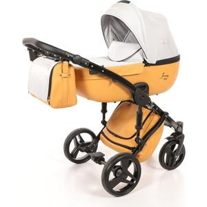Детская коляска 2 в 1 Junama MADENA JM-04 (рыжий/бежево-серые косы) цена и фото