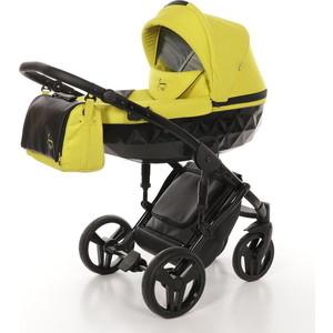 Детская коляска 2 в 1 Junama DIAMOND JD-02 (желтый/черный короб)