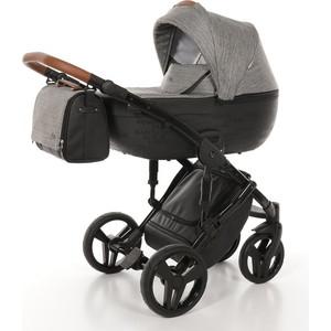 Детская коляска 2 в 1 Junama CITY JMC-01 (черный с городами/темно-серый) цена и фото