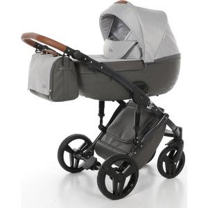 Детская коляска 2 в 1 Junama CITY JMC-02 (серый с городами/светло-серый)