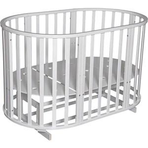 Фотография товара кровать детская Антел Северянка (3) 6 в 1 маятник поперечный, колесо, круглая 75*75, овал 125*75 белый (795194)
