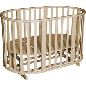 Фотография товара кровать детская Антел Северянка (3) 6 в 1 маятник поперечный, колесо, круглая 75*75, овал 125*75 сл.кость (795196)