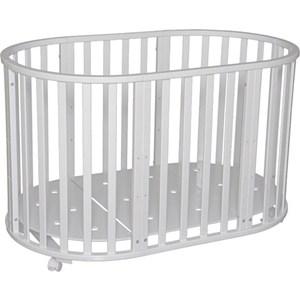 Фотография товара кровать детская Антел Северянка (3.1) 6 в 1 колесо, круглая 75*75, овал 125*75 белый (795197)