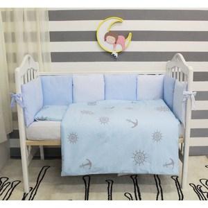 Комплект в кроватку By Twinz с бортиками-подушками 6 пр. Бриз bytwinz комплект в кроватку 6 предметов by twinz морской бриз