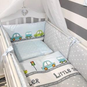 Фотография товара комплект в кроватку By Twinz 6 пр. Веселые машинки Классика (795255)