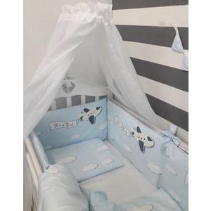 Комплект в кроватку By Twinz 6 пр. Волшебный полет (самолет) Классика by twinz комплект в кроватку 6 пр джунгли классика