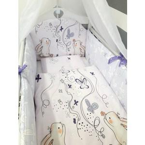 Комплект в кроватку By Twinz 6 пр. Милые зайцы Классика by twinz комплект в кроватку 6 пр джунгли классика