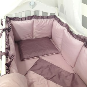 Комплект в кроватку By Twinz 6 пр. Черничный мусс Классика by twinz комплект в кроватку 6 пр джунгли классика