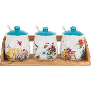 Набор банок для сыпучих продуктов 3 штуки Nouvelle Сад (660045) набор банок для сыпучих продуктов nouvelle сад 4 предмета