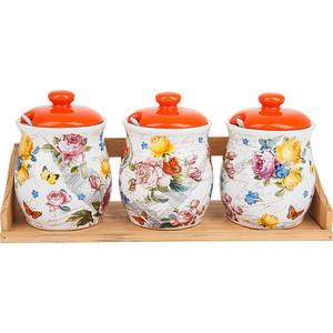 Набор банок для сыпучих продуктов 3 штуки Nouvelle Лето в Европе (660082) набор банок для сыпучих продуктов nouvelle сад 4 предмета