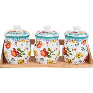 Набор банок для сыпучих продуктов 3 штуки Nouvelle Цветочная поэма (660114) набор банок для сыпучих продуктов nouvelle сад 4 предмета