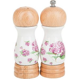 Набор для специй 2 предмета Nouvelle Розовая гортензия (663010) набор для специй certified international веселый санта 2 предмета