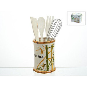 Подставка для кухонных принадлежностей ENS Group Bamboo (1750052) ens group подставка для кухонных принадлежностей красный петушок 9х13 см