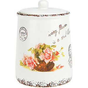 Банка для сыпучих продуктов 0.95 л ENS Group Персиковая роза (1750160) банка для сыпучих продуктов ens group дом милый дом 650 мл