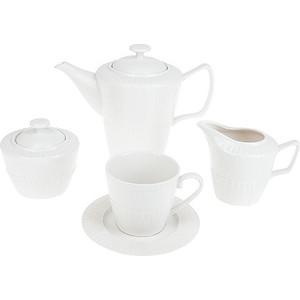Чайный сервиз 15 предметов ENS Group Ажурный узор (2240023) ажурный кардиган связанный спицами