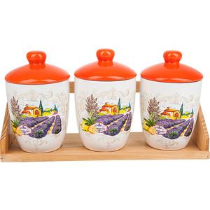 Набор банок для сыпучих продуктов 3 штуки Polystar Collection Прованс (L2430725) polystar кружка романс 310 мл
