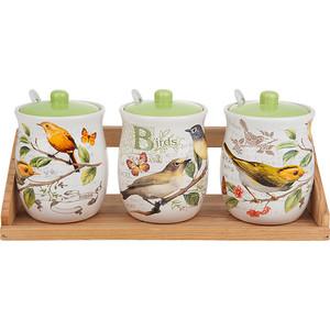 Набор банок для сыпучих продуктов 3 штуки Polystar Collection Birds (L2430757) набор банок для сыпучих продуктов polystar нарцисс 4 предмета l2520322