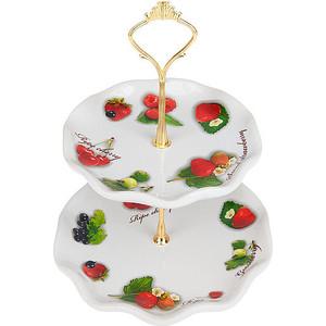 Блюдо для фруктов 2-х ярусная Polystar Collection Садовая ягода (L2520261) кружка садовая ягода 360мл фигурная 772278
