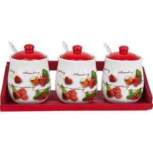 Набор банок для сыпучих продуктов 3 штуки Polystar Collection Садовая ягода (L2520267) polystar тарелка этажерка садовая ягода 18х24 см