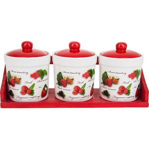Набор банок для сыпучих продуктов 3 штуки Polystar Collection Садовая ягода (L2520279) polystar тарелка этажерка садовая ягода 18х24 см