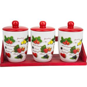 Набор банок для сыпучих продуктов 3 штуки Polystar Collection Садовая ягода (L2520286) polystar тарелка этажерка садовая ягода 18х24 см