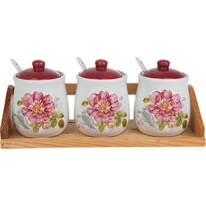 Набор банок для сыпучих продуктов 3 штуки Polystar Collection Райский сад (L2520375) солонка polystar райский сад 500 мл