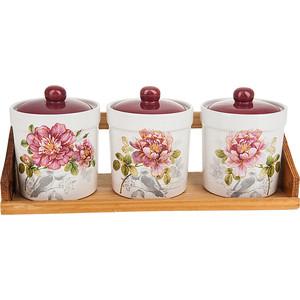 Набор банок для сыпучих продуктов 3 штуки Polystar Collection Райский сад (L2520387) солонка polystar райский сад 500 мл