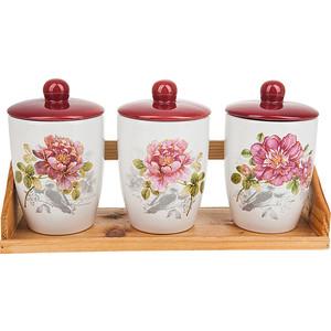Набор банок для сыпучих продуктов 3 штуки Polystar Collection Райский сад (L2520394) райский сад