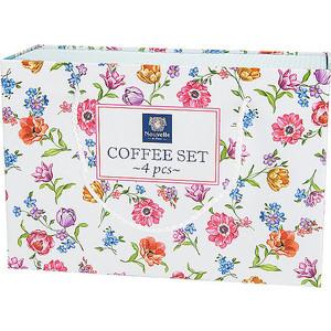 Кофейный набор 4 предмета Nouvelle Разноцветные тюльпаны (M0661162) от ТЕХПОРТ