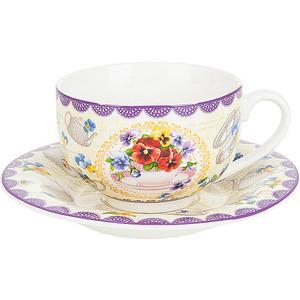 цена Чайный набор 12 предметов Nouvelle Анютины глазки (M0661206)