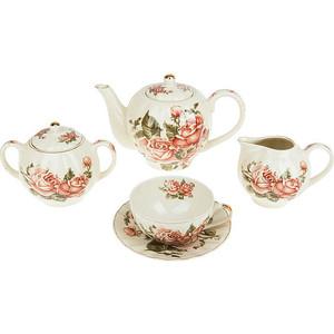 Чайный сервиз 15 предметов Best Home Porcelain Рубиновые розы (M1270296) best home porcelain салфетница рубиновые розы 4х8х13 см