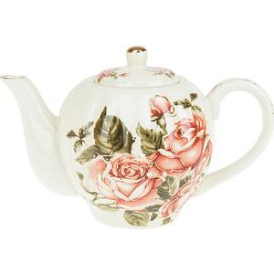 Заварочный чайник 1.0 л Best Home Porcelain Рубиновые розы (M1270297) банка для меда best home porcelain рубиновые розы 10 14 13 см