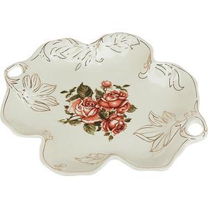 Конфетница Best Home Porcelain Рубиновые розы (M1270309) best home porcelain салфетница рубиновые розы 4х8х13 см