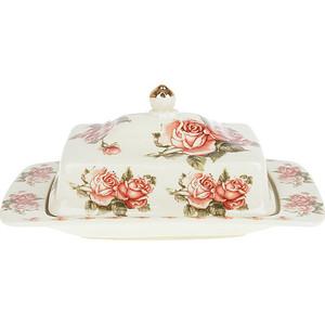 Масленка Best Home Porcelain Рубиновые розы (M1270313) best home porcelain салфетница рубиновые розы 4х8х13 см